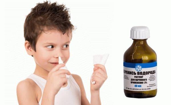 Промывание носа перекисью водорода отзывы